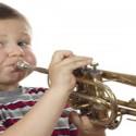 Boy Blowing Trumpet
