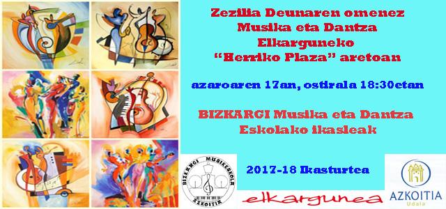 Zezilia deunaren omenez, Musika eta Dantza Elkargunean