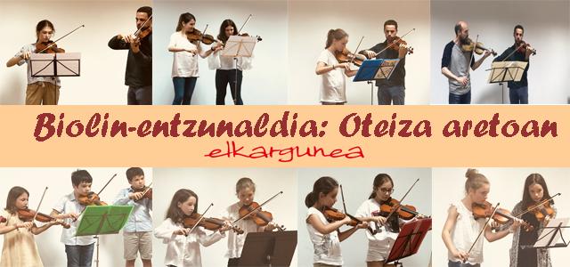 Biolin-entzunaldia: Donostia-Etxarri Aranatz eta Azkoitiko ikasleak