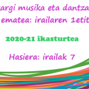 Irailak 7 – 2020-21 ikasturtearen hasiera musika eskolan