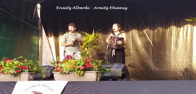 Araitz Etxaniz eta Enaitz Alberdi – 3. saria Zestoako X. Trikitilari gazteen Txapelketan